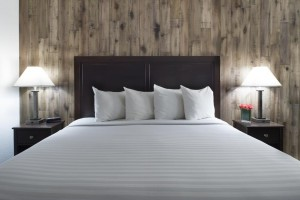 Mission Inn & Suites - Guest room with plush bedding